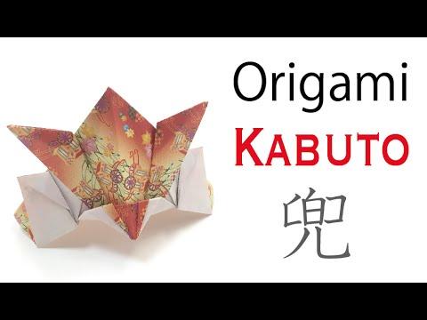 Origami Paper Kabuto (Samurai Helmet) Children's Day, Boy's Festival in Japan - Origami Kawaii〔#035〕