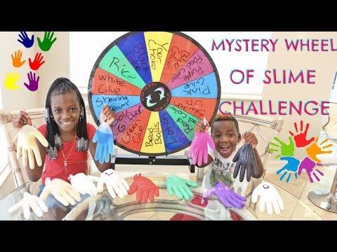 MYSTERY WHEEL OF SLIME GLOVES CHALLENGE!!!
