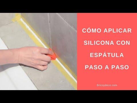 C mo aplicar silicona con espatula bricoydeco youtube - Como quitar silicona de la pared ...