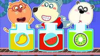 Wolf Family🌞 Wolfoo Learns Rainbow Colors, Learn Colors, Fruits for Kids   Kids Videos