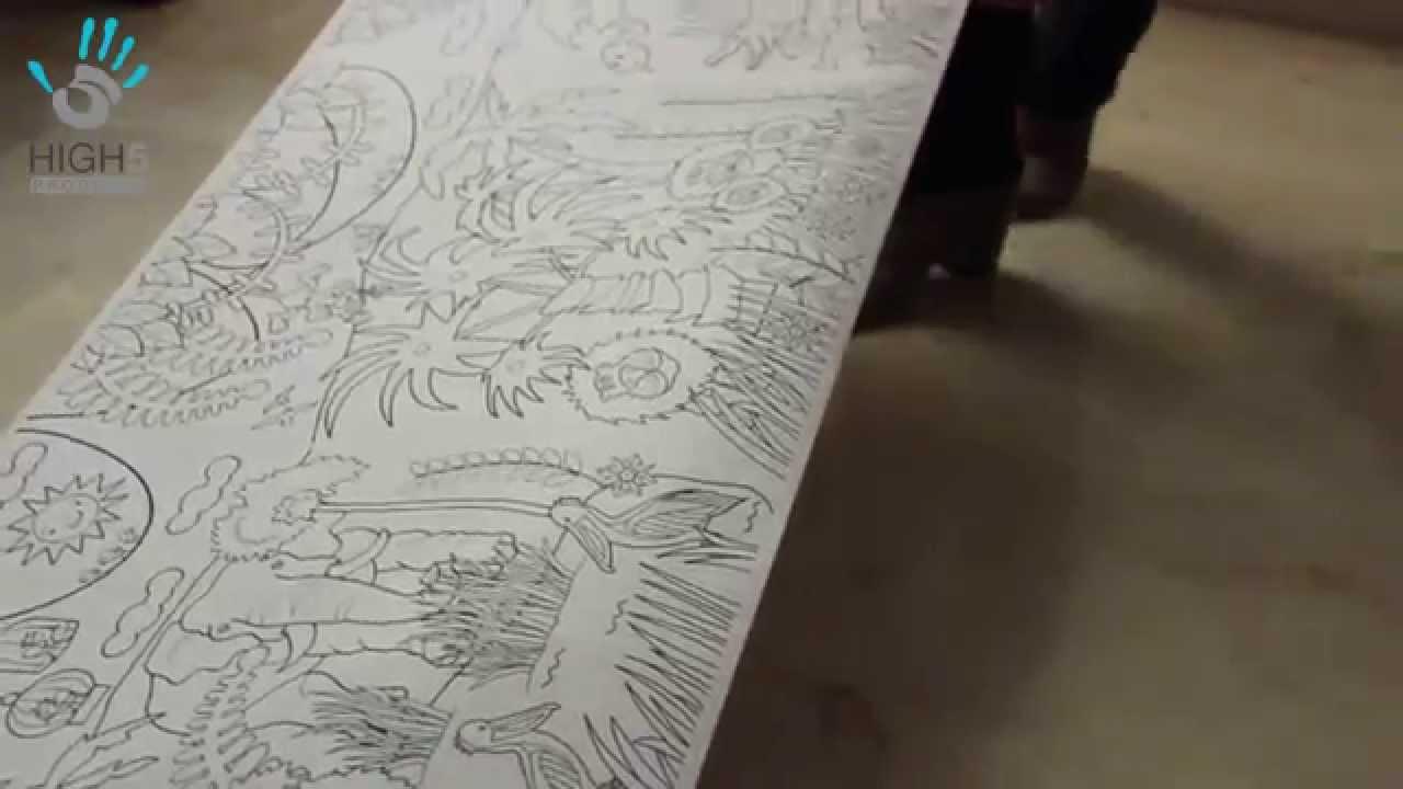Xl Kleurplaat 2 5 Meter Lang Youtube