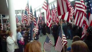 USA WELCOMES HOME CORPORAL CHRIS LEVI AMERICAN HERO ARRIVAL VIDEO AT LONG ISLAND MACARTHUR AIRPORT