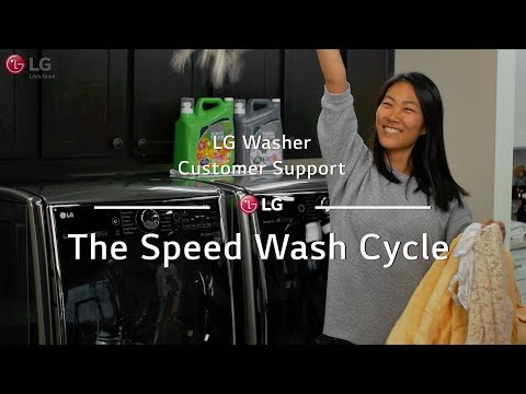 LG Washer - The Speed Wash Cycle