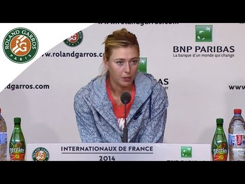 Press conference Maria Sharapova 2014 French Open SF