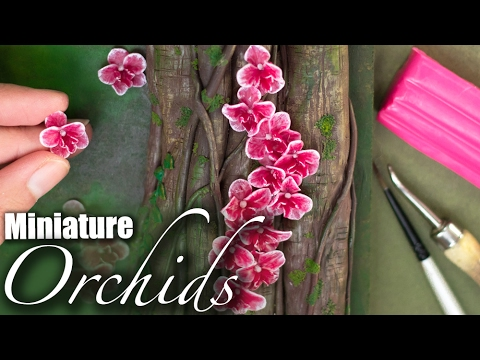 Miniature Orchids Sculpture Easy Flower Polymer Clay Tutorial