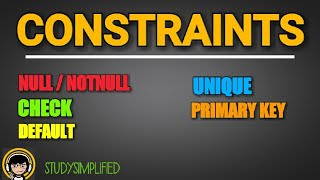 constraint in dbms/sql - (null / notnull, check, default , unique, primary key constraints)