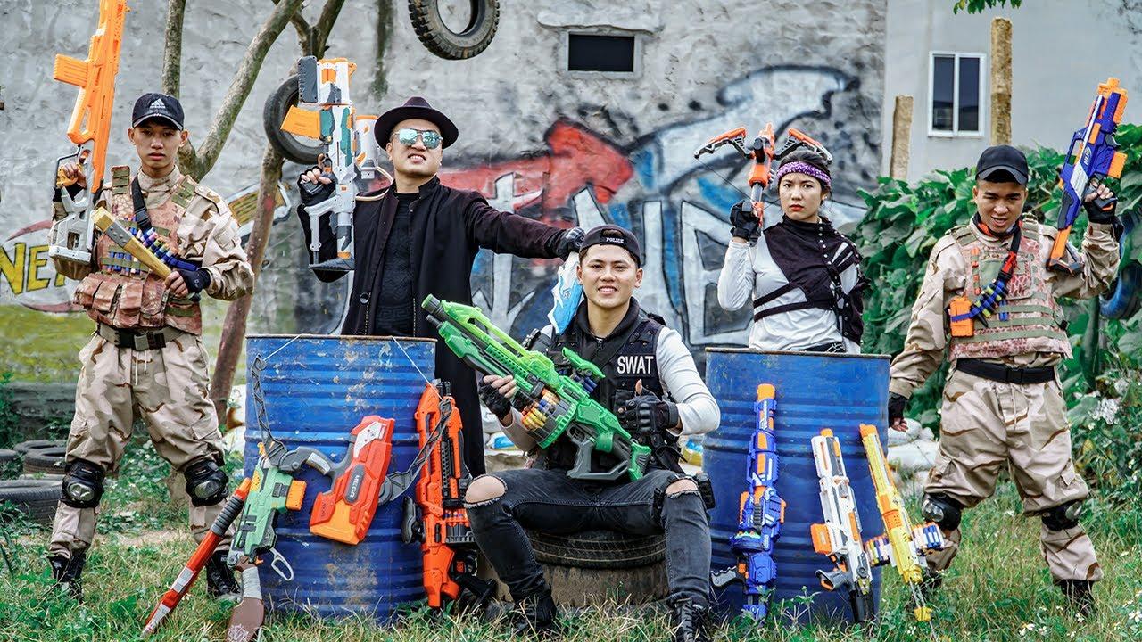 Nerf Guns War : Wrath Of Police Men SEAL TEAM Fight Boss XX Dangerous Criminal Group