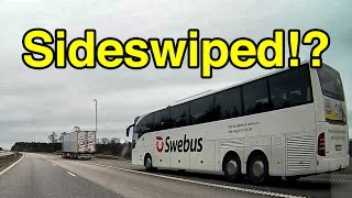Sideswiped by Bus - Close call on the Highway! - Trionic Seven
