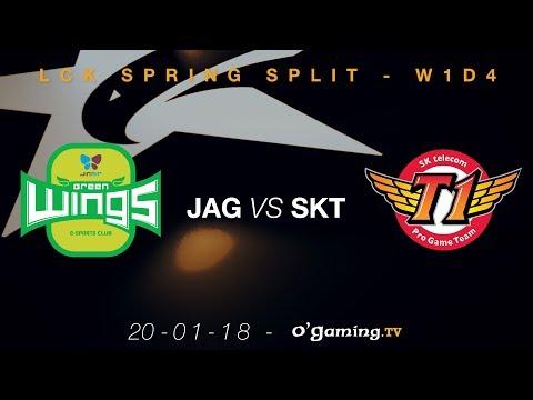 Jin Air Green Wings vs SKT T1 - LCK Spring Split 2018 - Week 1 Day 4 - League of Legends