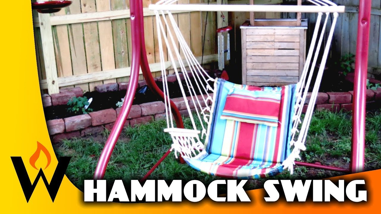 Hammock Chair Frame Diy Office Not Staying Up From Old Swing Youtube