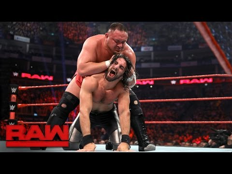 Seth Rollins vs. Samoa Joe: Raw, May 8, 2017