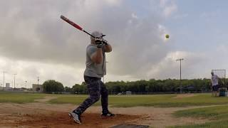 "Senior Softball Dave Swinging the Adidas Two Piece 12"""