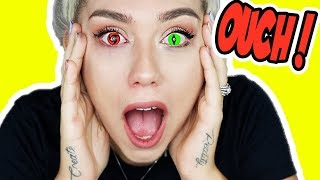 I TRIED COLOR CONTACTS FOR THE FIRST TIME! * PANIC ATTACK * | NICOLE SKYES