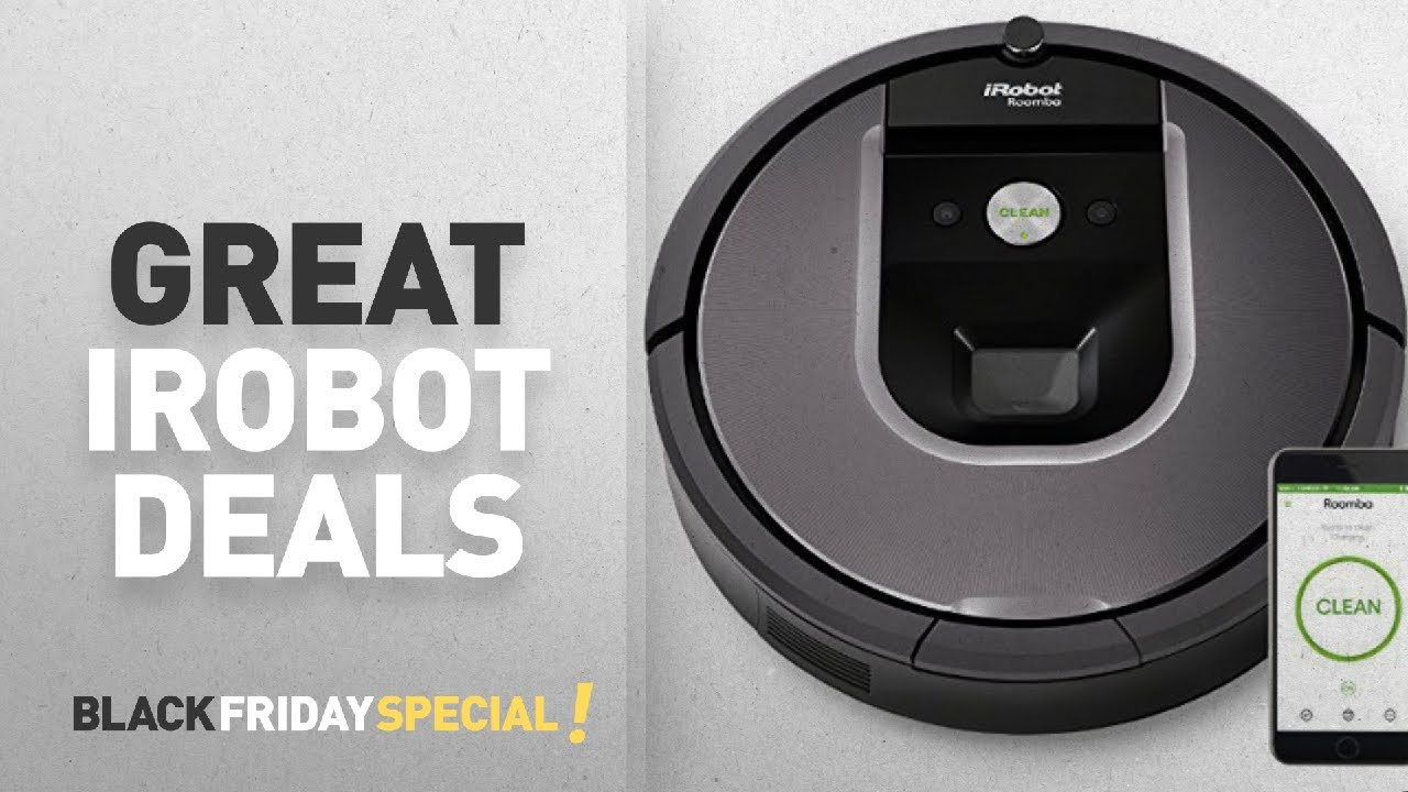 irobot black friday deals irobot roomba 960 robot vacuum with wi fi connectivity youtube. Black Bedroom Furniture Sets. Home Design Ideas