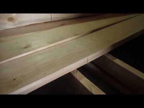 видео: Замена половой доски в бане. 2.