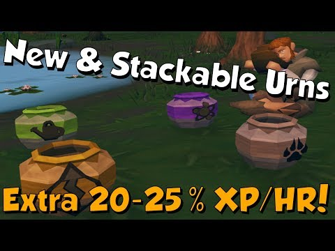 New Update? 4 New Urns & Stackable Urns! [Runescape 3] 20-25% More XP!