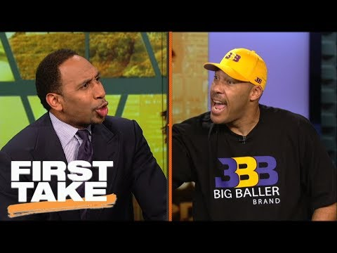 LaVar Ball and Stephen A. argue over BBB pricing and LeBron joining Lakers | First Take | ESPN
