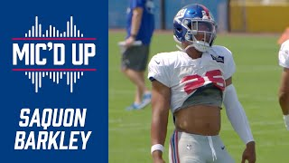 Saquon Barkley mic'd up at Giants Training Camp