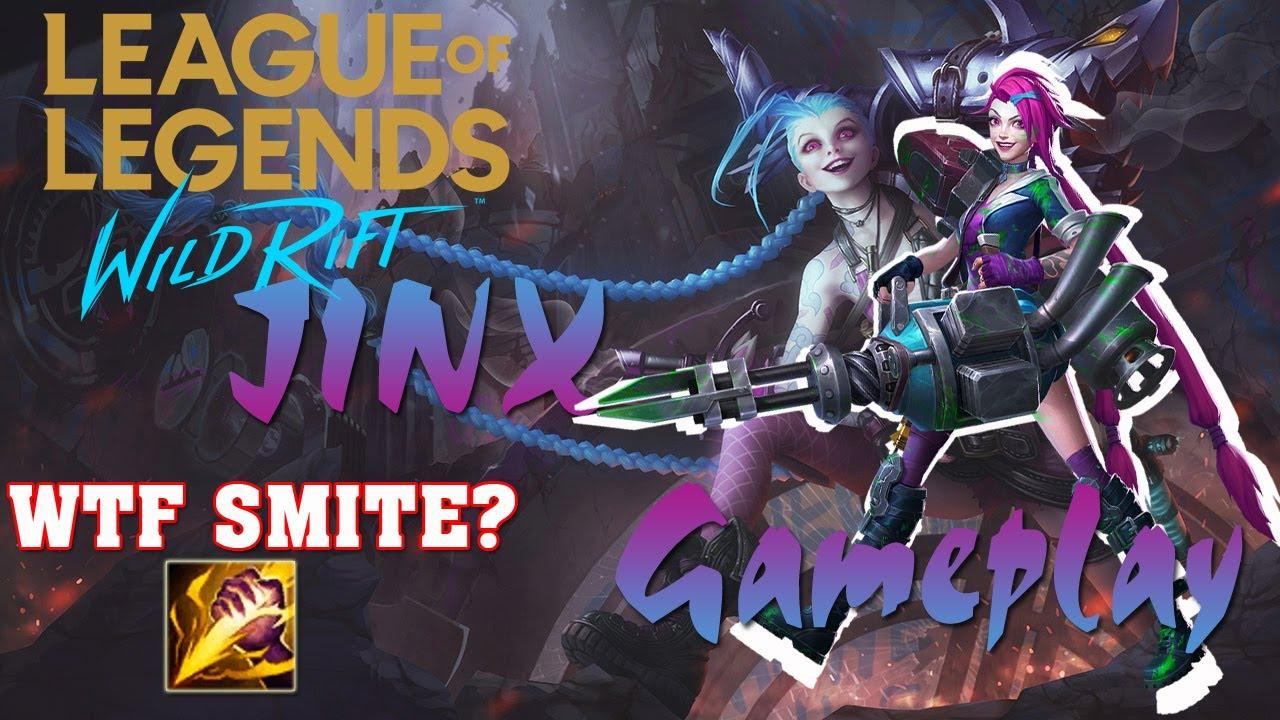 Wild Rift Jinx With Smite Marksman Gameplay Youtube