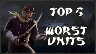 TOP 5 WORST UNITS - Total War: Shogun 2 - Fall of the Samurai!