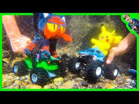 Axel Show Monster Trucks Underwater Ocean Adventure!