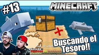 Mapa del Tesoro en Minecraft | Buscando Cofres Escondidos | Juegos Karim Juega