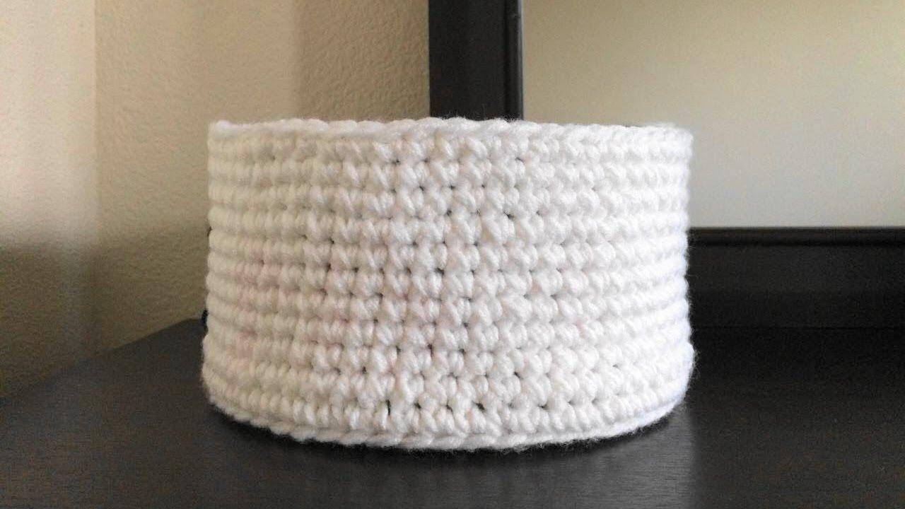 How To Crochet A Storage Basket, Lilu\'s Handmade Corner Video # 147 ...