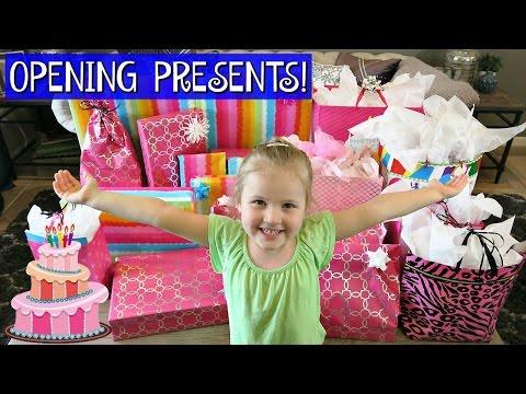 GRETCHEN'S 4TH BIRTHDAY MORNING | OPENING PRESENTS!