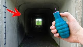 EXPERIMENT: XXL FIRECRACKERS INSIDE THE TUNNEL