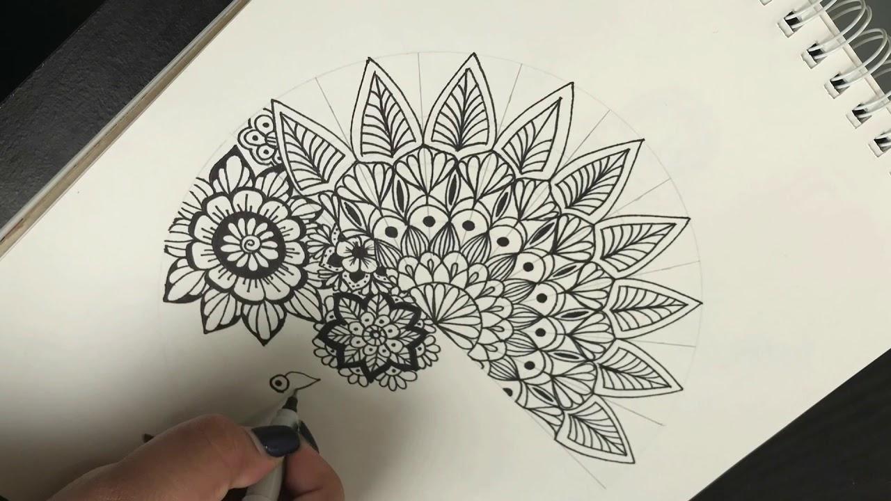 Como Hacer Una Mandala Simple Y Diferente How To Draw