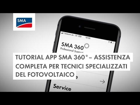 Tutorial app SMA 360° – Assistenza completa per tecnici specializzati del fotovoltaico