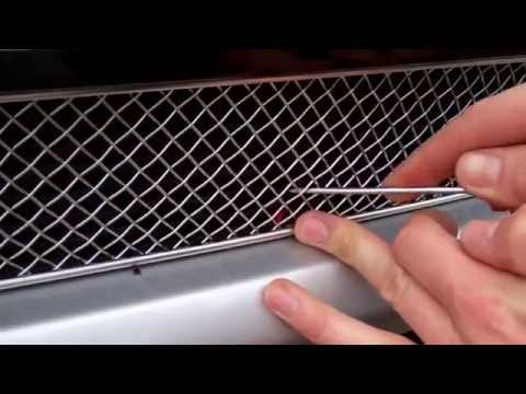 How to fit mesh grille to Range Rover Evoque