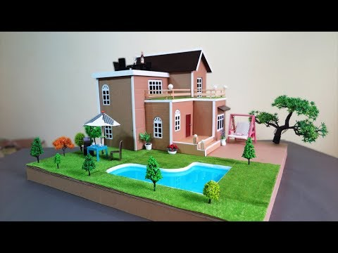How To Make A Beautiful Mansion House With Fairy Garden And Pool - Dream House - Cardboard house