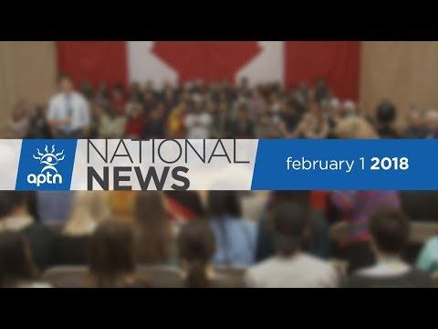 APTN National News February 1, 2018 – Trudeau In Winnipeg, Tribunal Order, Cold Cash