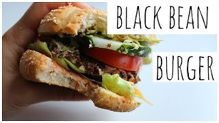 BLACK BEAN BURGER RECIPE (vegan, quick, easy, cheap)