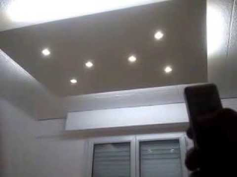 Faux plafond made in hautepierre youtube for Plafond suspendu lumineux