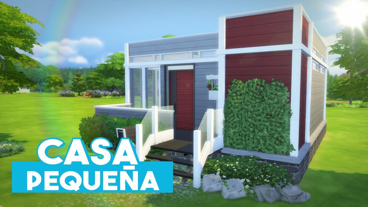 The sims 4 speed build peque a casa moderna youtube Casas modernas sims 4 paso a paso