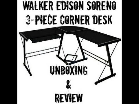 Walker Edison Soreno 3-Piece Corner Desk Unboxing and Review