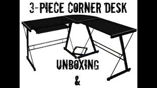 Walker Edison Soreno 3-Piece Corner Desk Unboxing and Review