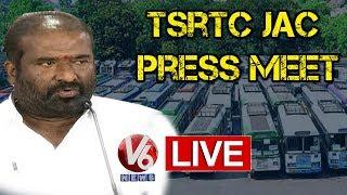 RTC JAC Press Meet LIVE || TSRTC Strike || V6 Telugu News