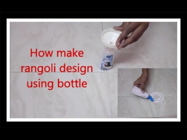 How to make rangoli using  bottle at home ||  Hemas rangoli designs ||simple method to draw rangoli