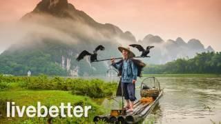 중국 전통 부드럽고 편안한 음악이 느려지거나 수면 연구…