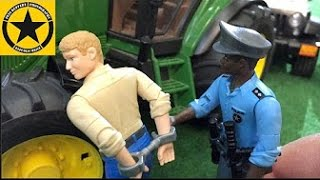 BRUDER TOYS Tractor Driver gets busted in Jack's bworld FARM