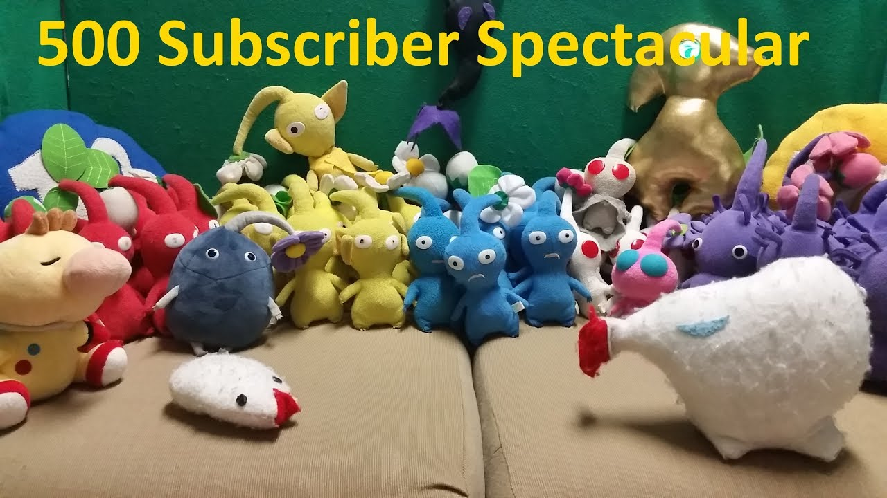 500 Subscriber Spectacular Pikmin And Mario Plush Collection Video