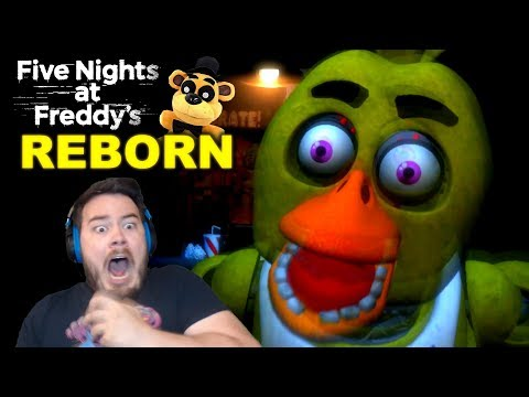 CHICA BROKE THROUGH MY OFFICE DOOR!! | Five Nights at Freddy's: Reborn (Nights 1 and 2) thumbnail