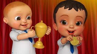 Annual Day-Hard Work Makes You Win | Telugu Rhymes for Children | Infobells