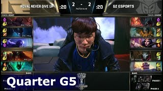 RNG vs G2 Game 5 | Quarter Final S8 LoL Worlds 2018 | Royal Never Give Up vs G2 eSports G5
