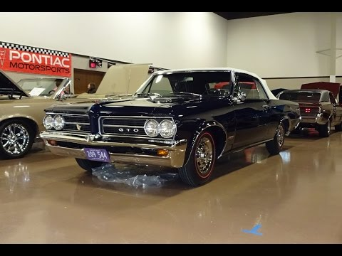 1964 Pontiac GTO Convertible in Nocturne Blue & Engine Start on My Car Story with Lou Costabile