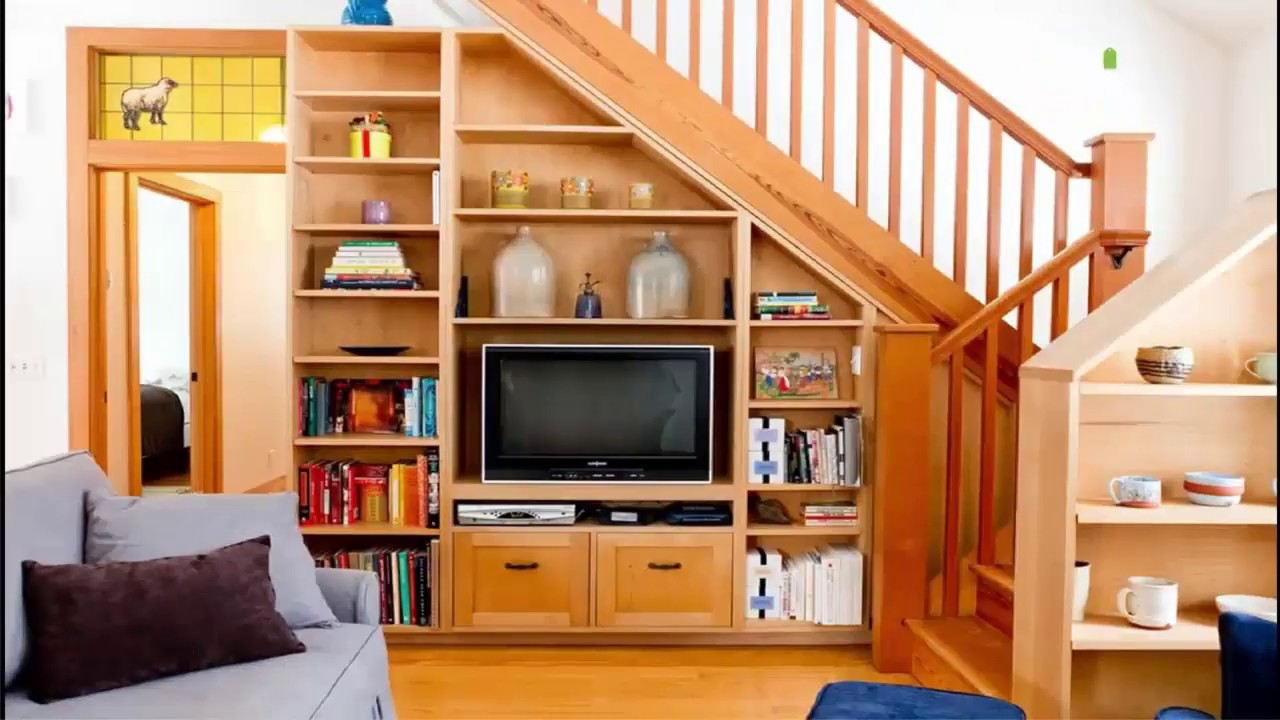 Under Stairs Space Design Ideas : Understair Bookcase and Display - Room  design