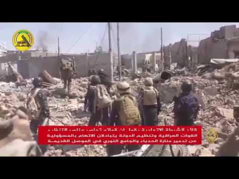من المسؤول عن تدمير الجامع النوري في الموصل؟